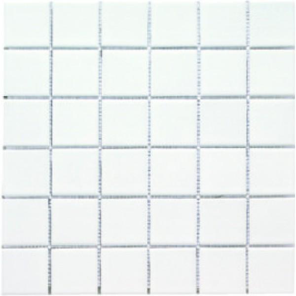 Мозаика однотонная  фарфоровая 5 0 х 5 0 мм  белая