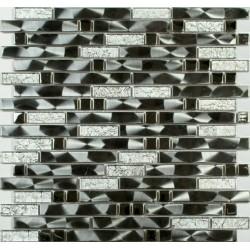 Мозаика MS-606 метал стекло  (15х48х98x6) 305*298