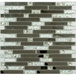Мозаика MS-605 метал  стекло  (15х48х98x6) 305*298
