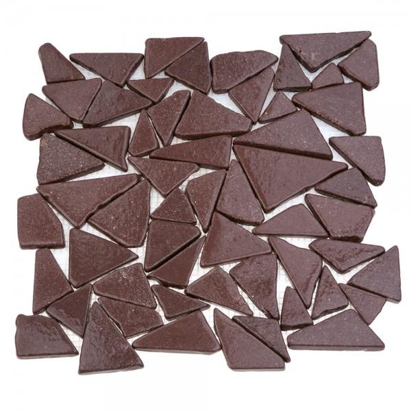 Каменная мозаика MS-TRI МРАМОР красный треугольный