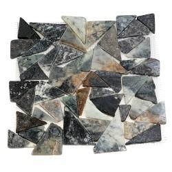 Каменная мозаика MS-TRI МРАМОР серый треугольный